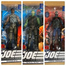 Lot GI Joe Classified Cobra Island Trooper Roadblock Beach Head All 3 SEALED NEW