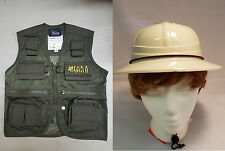 Child Park Ranger Vest & Safari Hat Combo Explorer Cargo Vest Kids Size Medium