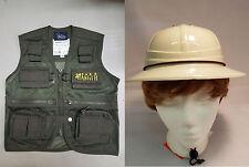 Child Park Ranger Vest & Safari Hat Combo Explorer Cargo Vest Kids Size Small