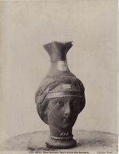 Museum Naples Vase Figure Woman Bronze Italy Photography Vintage Albumin