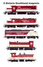 Ontario Southland Locomotives set of 5 magnets Andy Fletcher