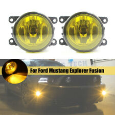 Golden Yellow Fog Light w/ H11 Bulbs Lamp For Ford Mustang Explorer Fusion LH&RH