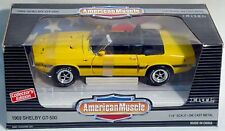 ERTL 1/18 1969 Ford Mustang Shelby GT500 YELLOW #7351 SEALED American Muscle '69