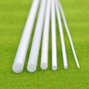 ABS Round Plastic Stick Rod White Dia.1/2/4/5/6mm Length 250mm Model DIY