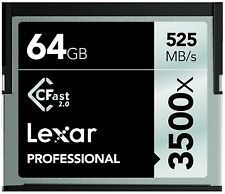 Lexar 3500x 64GB CFast 2.0 Memory Card For URSA Amira XC10 C300 MARKII 1DX2