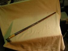 """Antique Wooden Walking Cane With Brass Horse Handle Approx. 34"""" Tall"""