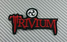 Embroidered Patch Iron Sew Logo TRIVIUM music rock band T