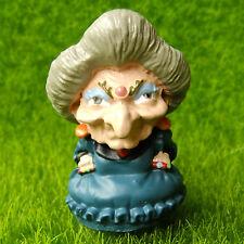 Witch Sorceress Gnome Sprite Pixie Fairy Garden Terrarium Decor Figurine Toy