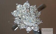 .90ct E SI1 Pear Shape GIA Princess Halo Ring R5733 Diamonds by Lauren
