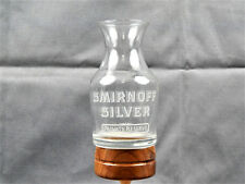 1989 Smirnoff Silver Private Reserve Etched Logo Advertising Carafe Shot Glass