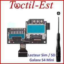 Lecteur de Carte Sim Micro SD Mémoire pour Samsung Galaxy S4 Mini i9190 i9195