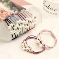 Wholesale Pearl Elastic Hair Band Ponytail Holder Scrunchy Rope Hair Accessories