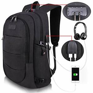 Travel Laptop Backpack Water Resistant Anti-Theft Bag USB Charging Lock 14/15.6