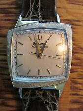 Restored 1960 BULOVA Accutron 214 Tuning Fork 14k Gold TV Case 521 Men's Watch