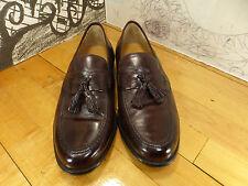 johnston Murphy Brown Leather Tassel Loafers 9.5 15 15009