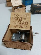 Manovella TWINKLE LITTLE STAR Music Box legno CARILLON meccanismo 18 note 0282