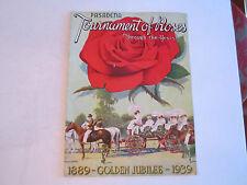 1939 PASADENA TOURNAMENT OF ROSES PROGRAM - NICE CONDITION - TUB EM