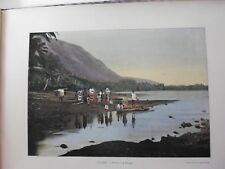 Tahiti/Moréa:Gravure 19°in folio couleur/ District de Papara