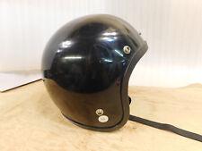 Vintage Black Motorcycle Snowmobile Helmet Made in Canada Medium