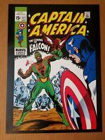 Captain America 117 1st Falcon Marvel Comics Poster by Gene Colan