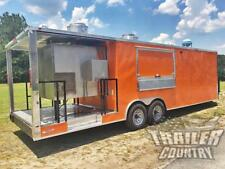 New 2020 8.5X27 Enclosed Concession Mobile Food Vending Porch Trailer Bbq Smoker