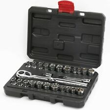 """Craftsman 25 pc piece 3/8"""" & 1/4"""" Drive Socket Wrench Set SAE And Metric MM"""