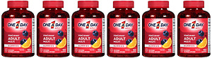 One A Day Vitacraves Regular Gummies, 150 Count (6 Pack)