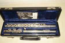 1972 Vintage ARMSTRONG 303  Open Hole FLUTE, Inline-G w/SOLID SILVER HEAD C-FOOT
