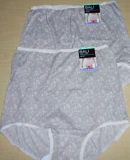 2 Bali Brief Panty Skimp Skamp 2633 Pink Chic Lace Nylon Back Seam Size 8 XL NWT