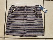 Genuine Kids Oshkosh Girls Sz 7/8 Metallic Tweed Skirt Nightfall Blue Nwt Stripe