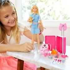 Travel Around the World w/ Dreamhouse Adventures Barbie Doll Puppy & Accessories
