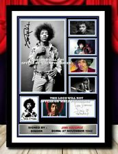 More details for (513) jimi hendrix music legend signed photograph framed unframed reprint ******