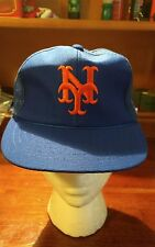 Vintage New York Mets Mesh Trucker Style Cap Hat Snapback  youth fits all