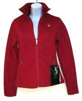 SPYDER Women's Pink FULL ZIP PLUSH MID WEIGHT Knit Sweater Size XS, #3675-11
