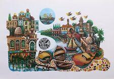 "AMRAM EBGI ""CITY OF JAFFA"" | SIGNED FOIL STAMPED EMBOSSED PRINT | OTHERS AVAIL"