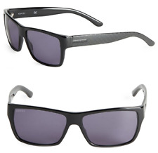 GUCCI Square Men Sunglasses GG 1000/S Shiny Black Grey 807BN