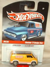 Hot Wheels Slick Rides Custom '77 Dodge Van yellow,real riders excellent card