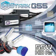 Slim 55W Xenon Hi Lo Dual HID Kit Head Light - 8000K 8K Ice Blue - 9007 HB5 (A)