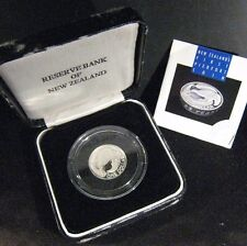 1992 New Zealand Kiwi Silver Proof Dollar Dmgd Box/Case ** FREE U.S SHIPPING**