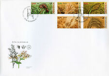 Slovenia 2017 FDC Cereals Wheat Buckwheat Barley Spelt 5v Cover Nature Stamps