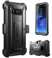SUPCASE Galaxy S8 Case with Holster Belt Clip [Unicorn Beetle Pro] Rugged Cover