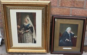 2 GREAT LOOKING FRAMED & GLAZED PRINTS OF QUEEN VICTORIA ONE DATED 1899