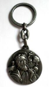 Religious Metal Key Ring Charm Amulet St Christopher Key Ring