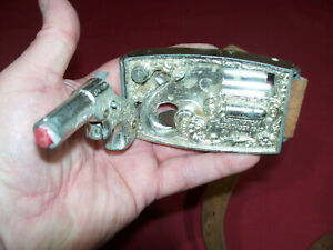 1959 Mattel Remington 1867 Derringer Cap Gun Belt Buckle USA Diecast Old Vintage
