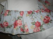 Ralph Lauren Danielle Blue Floral Roses Queen Bed Skirt Dustruffle Rare Vintage