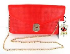URBAN EXPRESSIONS RED CLUTCH, SHOULDER BAG, HANDBAG, PURSE WITH REMOVABLE STRAP
