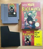 Wrath of Black Manta for Nintendo NES Rare Complete UK Boxed + Manual - Great
