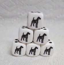16mm - *6* Chx Custom Airedale Terriers - Op White w/Black - Airedale Is #1 Pip!