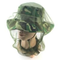 Anti-mosquito Bee Bug Insect Fly Mask Cap Hat Net Mesh Outdoor Face Prot DKY