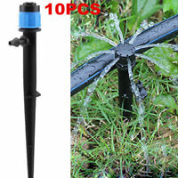 10pcs/Sets 360° Garden Water Spray Nozzle Sprinkler Dripper Irrigation System